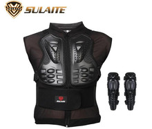 SULAITE Motorcycle Jacket Body Protector Clothes Skate Skiing Full Body Armor Spine Chest Protective Gear Clothing & Knee Pads цена