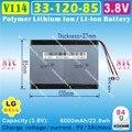 [V114] 3.8 V, 3.7 V, 6000 mAH, [3312085] Polymer lithium ion/Li-ion bateria para tablet pc, telefone celular, telefone MÓVEL, BANCO de POTÊNCIA, MP4