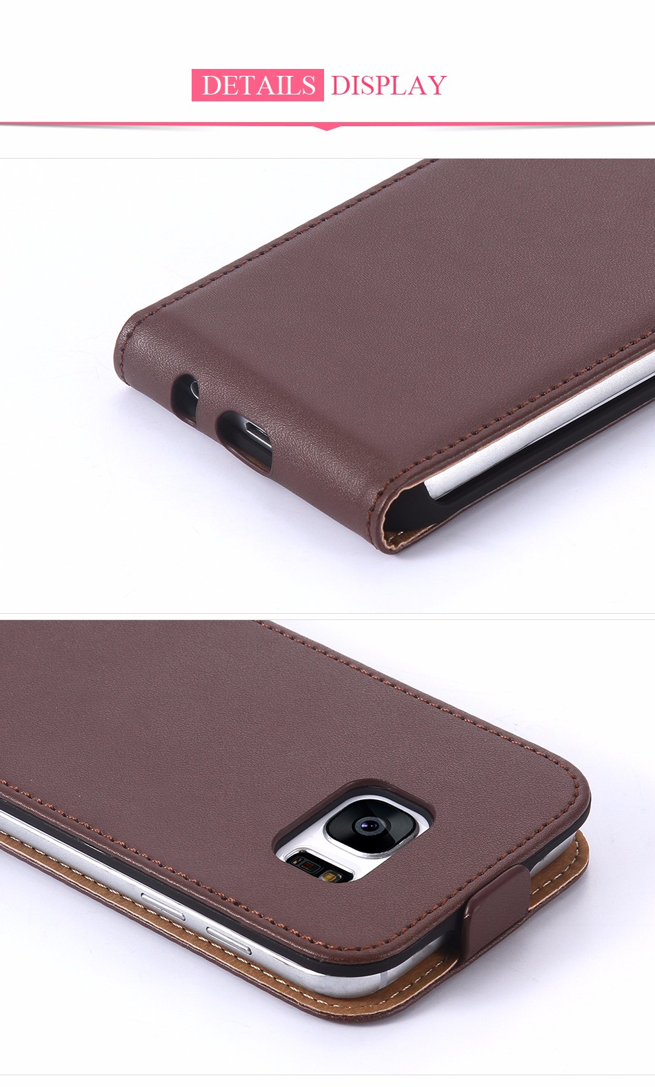 Hot Retro Genuine Leather Case for iPhone 5S I5 4S 4 Luxury Vertical Magnetic Flip Phone Accessories Real Full Cover For Iphone5 1 (6)