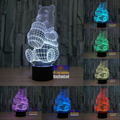 The Winnie 7 color 3D LED Night Light Touch Switch All Colors Flash In Turn and gift to friend