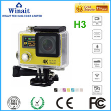 dual display waterproof 4k wifi digital video camera/sports/action camera dhl free shipping