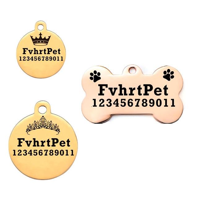 Dog id tag Accessori Per Il Cane il nome di tag e Trasporto Gatto Personalizzato