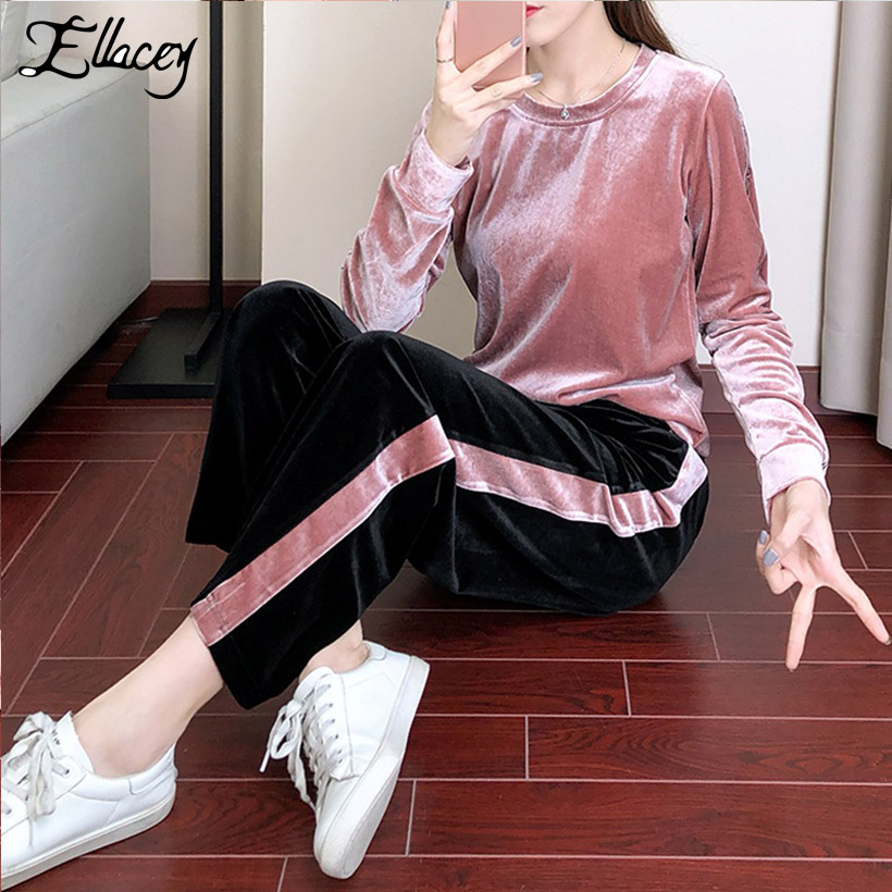 Guuzyuviz Casual Two Piece Set Women White Chic V-neck Tops And High Waist Loose Bandage Vintage Pants Elegant Plus Size Suit 2019 New Fashion Style Online Women's Clothing Women's Sets