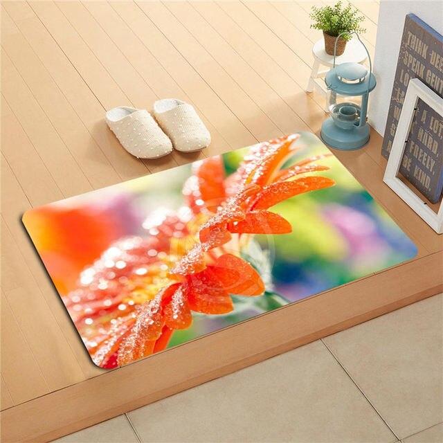 Ua8 Custom Orange gerbera flower petals water drops Doormat Home Decor Door mat Floor Mat Bath & Ua8 Custom Orange gerbera flower petals water drops Doormat Home ...
