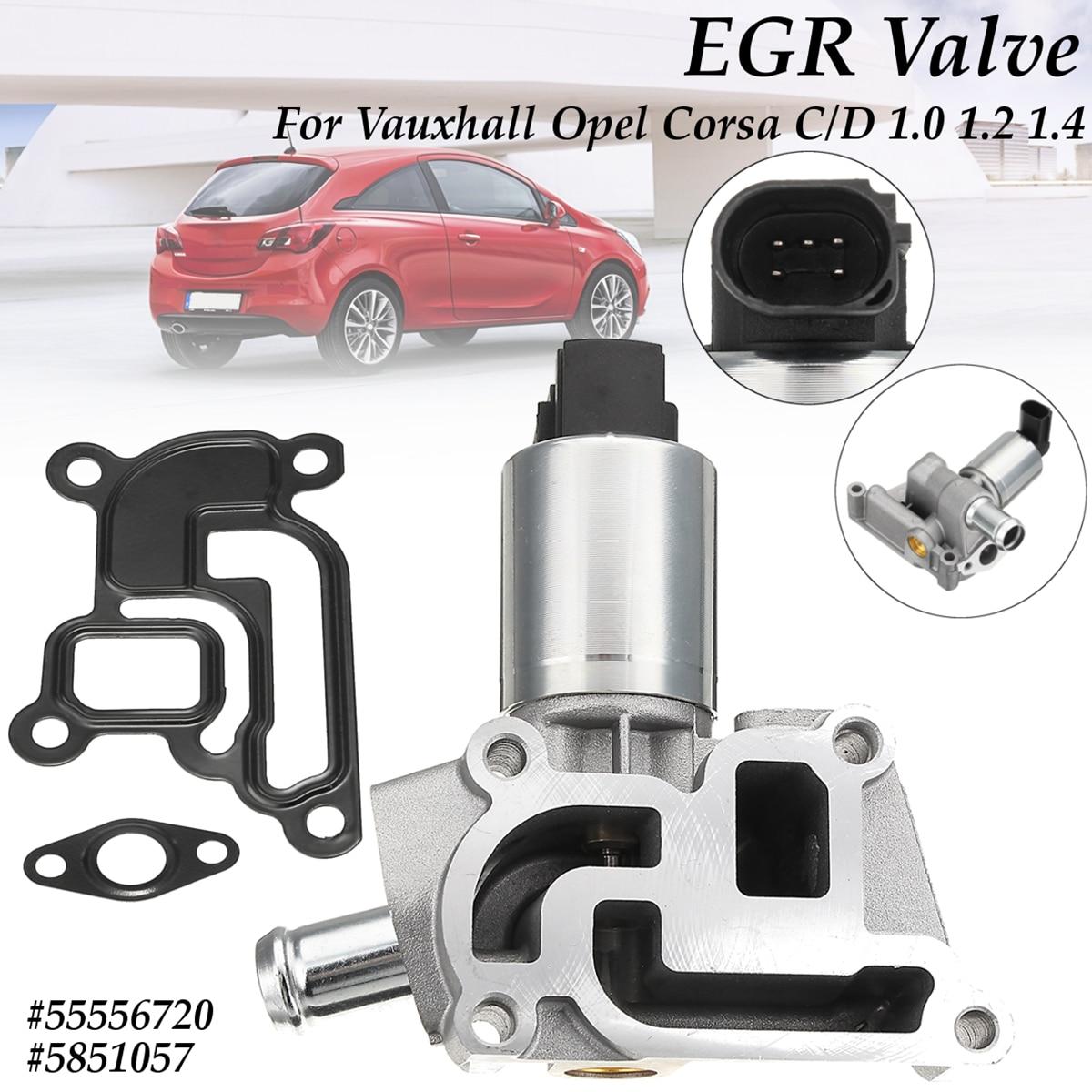for Corsa C 2003-2015 1.0 1.2 1.4 #55556720 New for 5 Pins EGR Exhaust Valve for Vauxhall Opel Corsa D 2006-2015 брызговики передние novline opel corsa d 2006