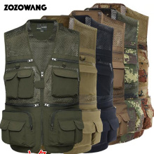 ZOZOWANG spring autumn  high quality new vest men summer fishing photography mountaineering cotton