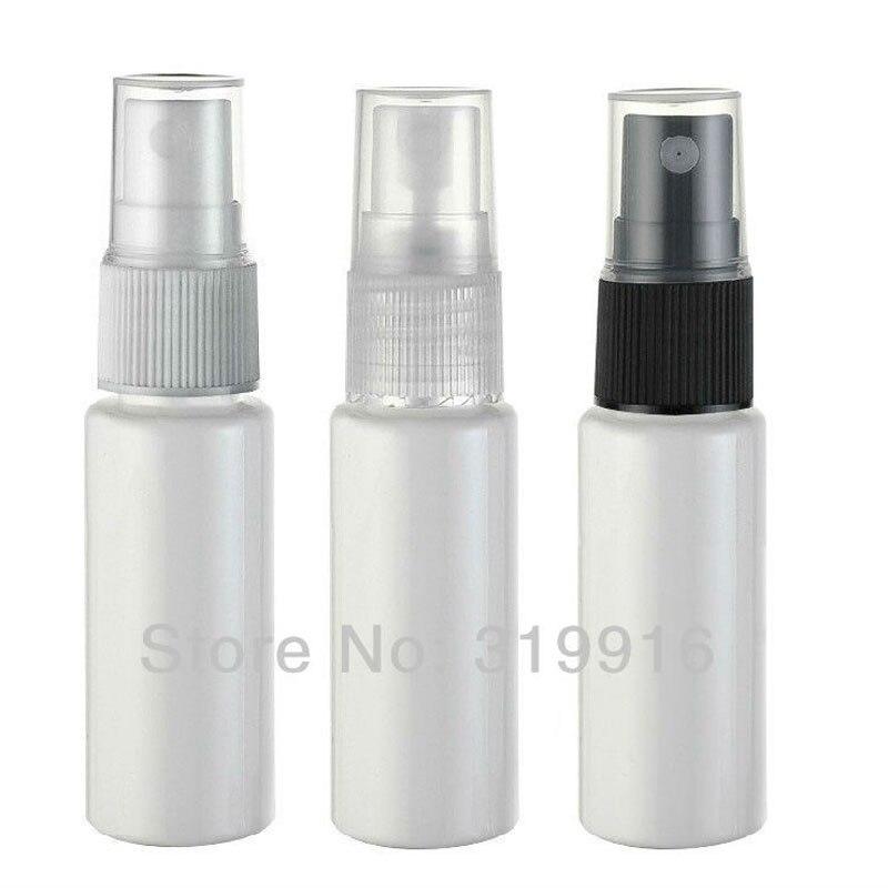 Miniature 20ml White Plastic Bottle With Mist Spray Pump 20cc Empty Perfume Sprayer Container Samll Sample