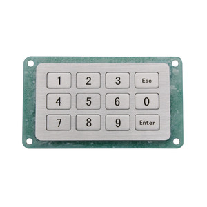 Industrial Keyboard with 12 Keys IP65 4x3 Kiosk Metal Matrix Keypad Stainless Steel Metallic Waterproof Slim(China)