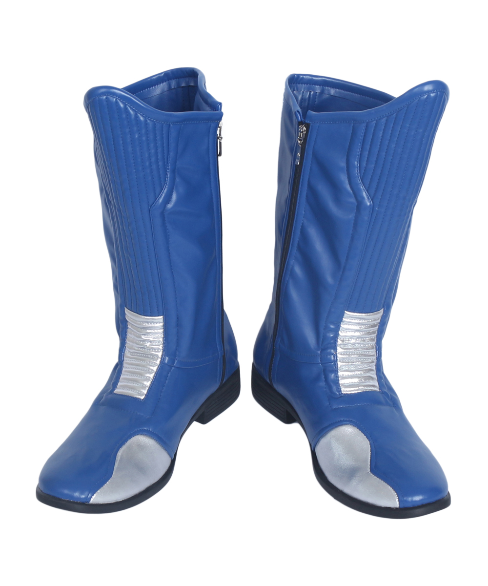 <font><b>The</b></font> <font><b>Flash</b></font> Blue <font><b>Cosplay</b></font> <font><b>Boots</b></font> Shoes Custom Made image