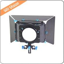 M4 Matte Box DSLR Rig para 15 MM Vara Trilho de suporte follow foco