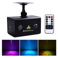 Red Green Aurora Laser Galaxy Wavy LED Light Stage Projector Wireless Remote Control And Sound Active