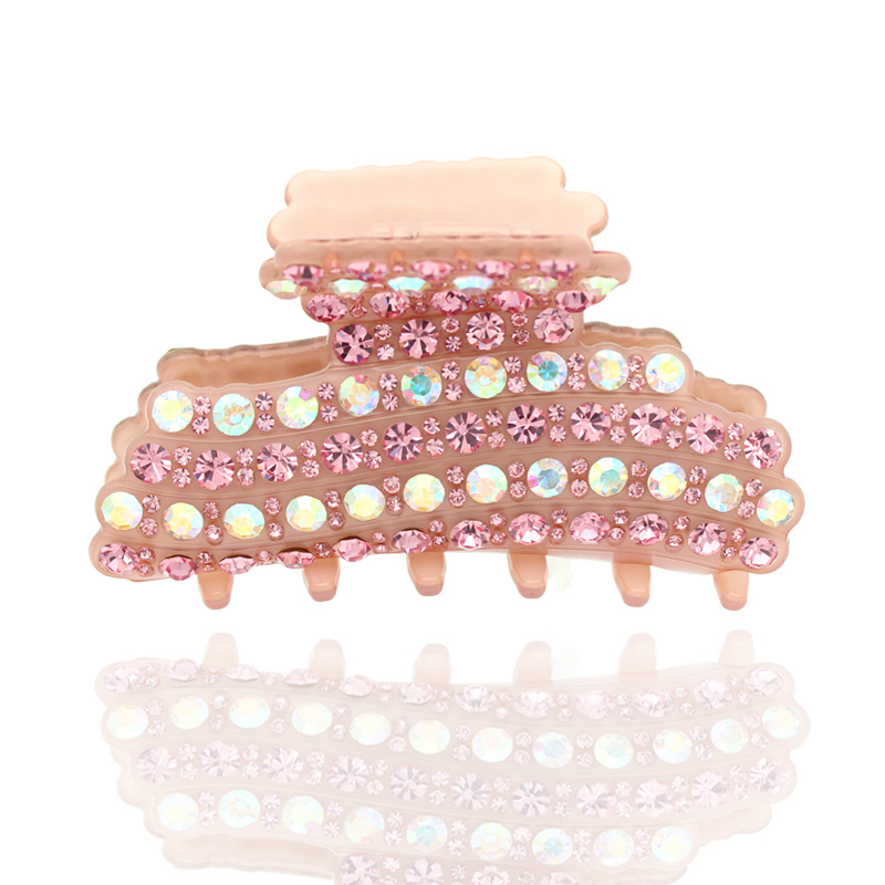 Large Big Rhinestone Cellulose Acetate Crab Hair Claw Clip Accessories Ornament for Women Girl Hairgrip Hairpin Hairpin Wedding 2pcs bowknot girl kids mini hair clip hairgrip satin hair ribbon bows hairpin accessories for girls hair clips hairclip barrette