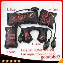 KLOM-herramientas de reparación de automóviles, bomba de cuña, cerrajero, Airbag de cuña de aire para coche, juego de ganzúas, cerradura de puerta de coche abierta, tamaño S, M, L, U, para XC90, VW