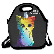 MEETSELF 3D Print Color Unicorn Cat Lunch Bags Insulated Waterproof Food Girl Packages men and women Kids Babys Boys Handbags