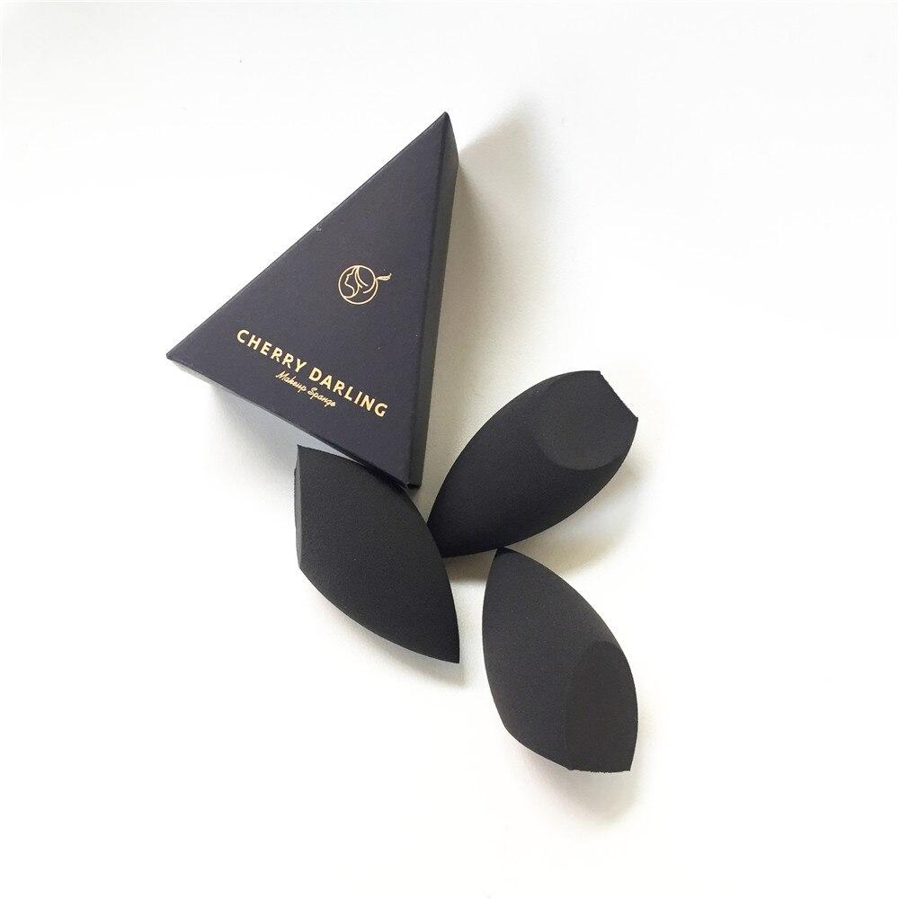 Cherry darling definer beleza maquiagem mistura esponja-preto-aplicador cosmético macio para creme fundação líquida & pós