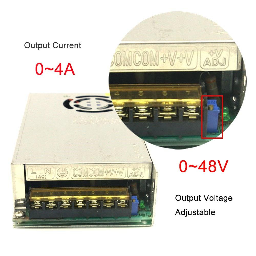 Regulated Switching Power Supply DC 18V 19V 20V 28V 32V 38V 40V 42V 43V 48V 2A 3A 4A AC110/220V Voltage Adjustable Power Supply