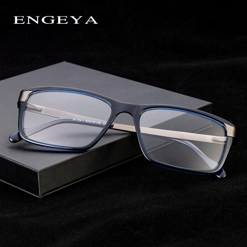 Image 2 - Men Glasses Clear Fashion Brand Designer Optical Eyeglasses Frame Transparent Glasses Men High Quality Prescription Eyewear #134-in Men's Eyewear Frames from Apparel Accessories