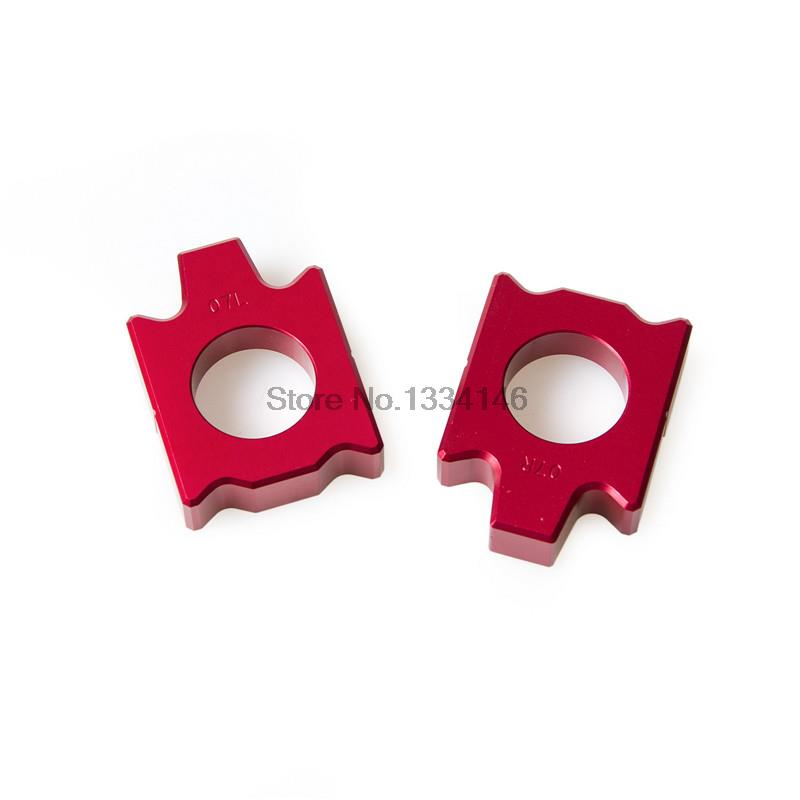 Red Rear Axle Block Kit Chain Adjuster For Yamaha YZ125 YZ250 YZ250F YZ450F YZ400F Dirt Bike Rear Axle Block