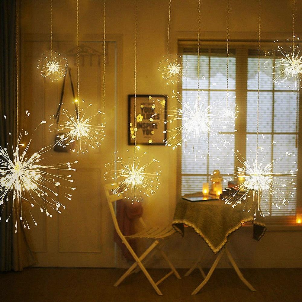 Медные провода с подсветкой 120LED коридор патио сказочная гирлянда для вечеринок Сказочный свет прочная свадебная фея Гирлянда Свет двора