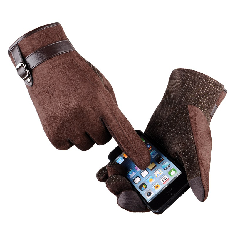 Mens Sude Leather Gloves For Touchscreen 2018 Winter