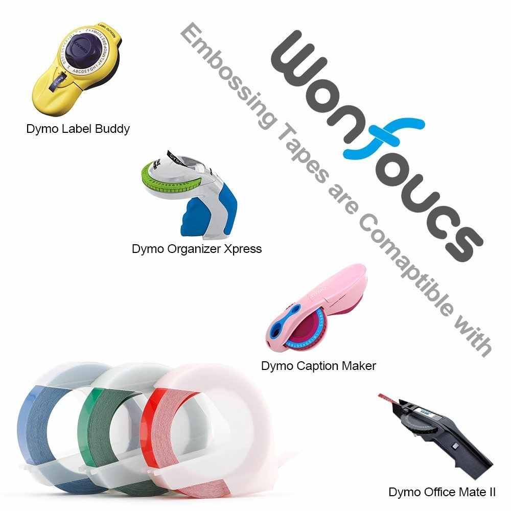 9mm * 3m תואם Dymo 3D פלסטיק הבלטות תווית קלטות 3pcs מעורב צבע קלטת עבור הבלטות ידנית מכונה תיוג תווית יצרנית