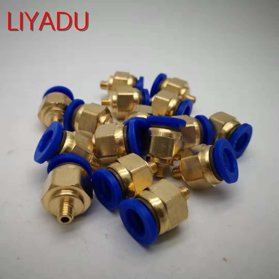 10 Pcs Pneumatische Armaturen Pc 8mm Außengewinde 1/8 1/4 3/8 1/2 Zu Rohr Push-air Rohr Gerade Verbindung Pc5/16-01/02/03/04