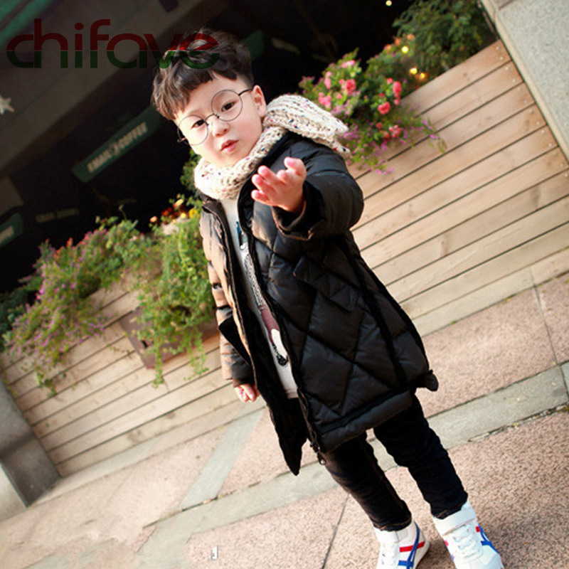 chifave Winter Children Boys Parka Thick Warm Hooded Coat Kids Outerwear Baby Boys Down Jacket Infant Clothes Suit For 80-130