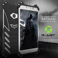Cajas Del Teléfono Del Metal Para Xiaomi Nota 2 Aleación de Aluminio de la Serie Batman lujo Ultra Thin Coque + A Prueba de Choques de La Contraportada Para Mi Nota 2