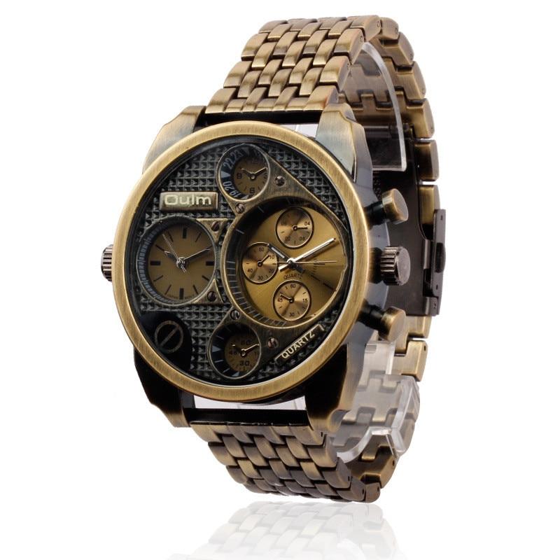 Prix pour 5 cm big face oulm 9316 relogio masculino d'origine designer marque Montre Hommes Saat Wacthes Montre Homme de Marque reloj hombre