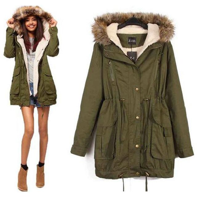 Online Shop 2015 winter military jacket coat thicker coat female ...