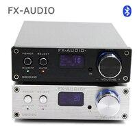 FX аудио d802c Беспроводной Bluetooth версии Вход USB/AUX/оптический/коаксиальный чистый цифровой аудио Усилители домашние 24bit/ 192 кГц 80 Вт + 80 Вт OLED