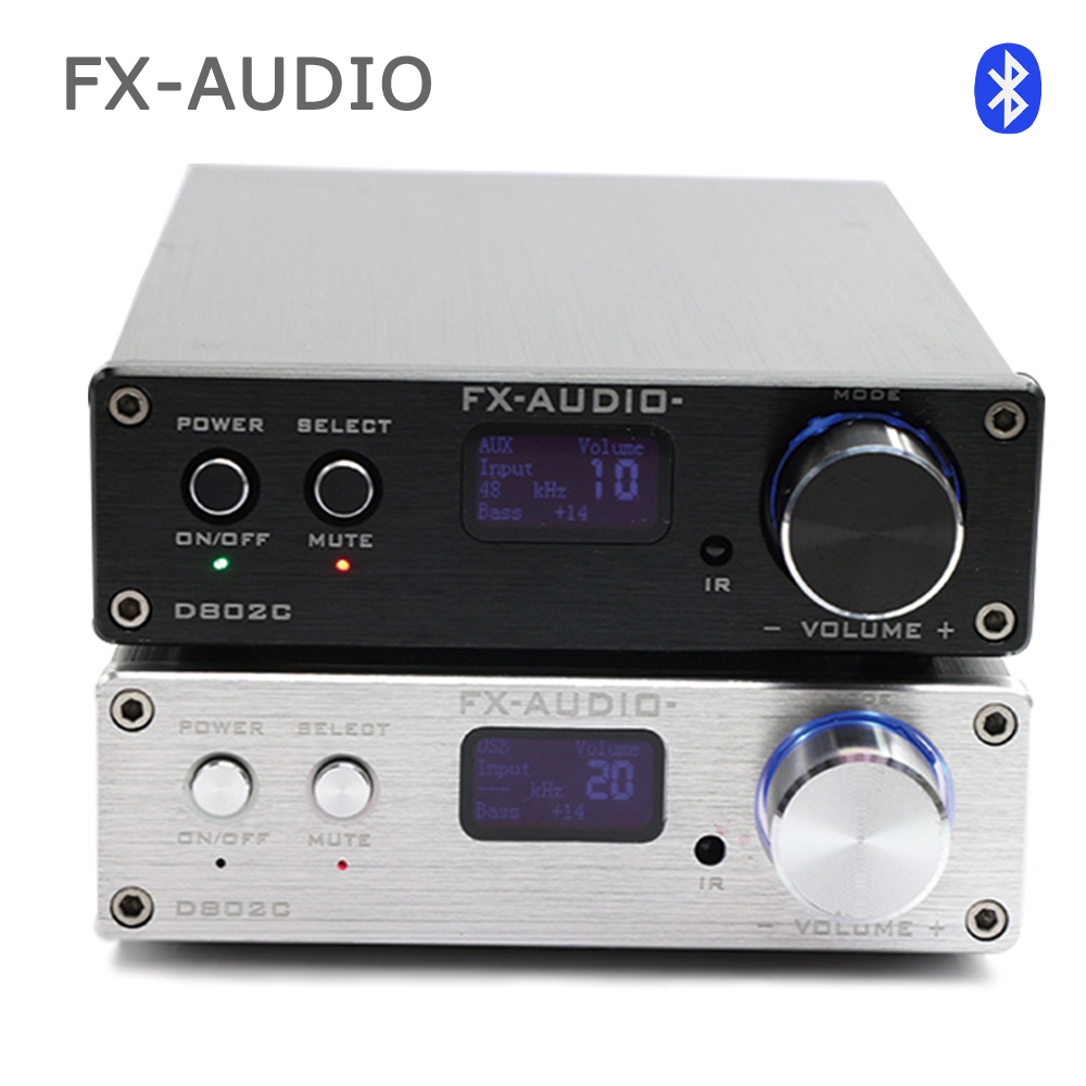 FX audio D802C Wireless Bluetooth Version Input USB/AUX/Optical/Coaxial Pure Digital Audio Amplifier 24Bit/192KHz 80W+80W OLED lamel professional гель для бровей brow gel 03 10 мл