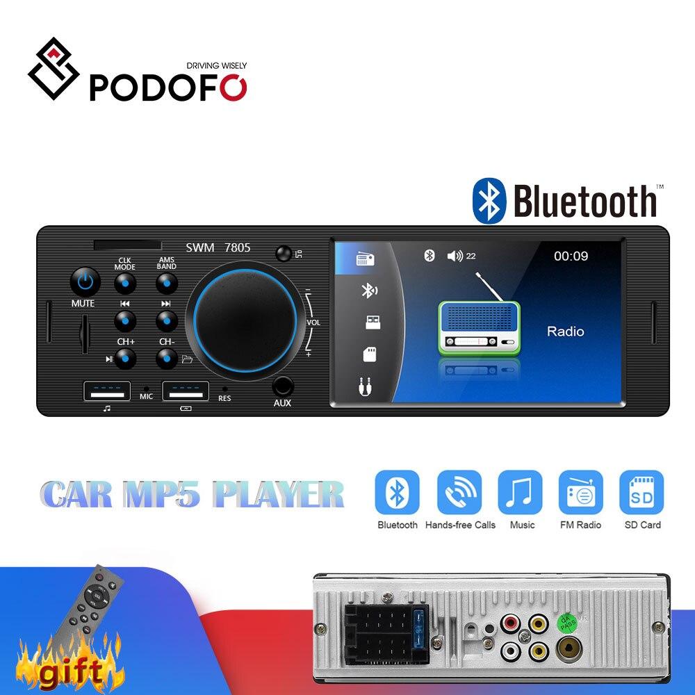 Podofo rádio do carro 1 din rádio cassete jogador autoradio 4.1