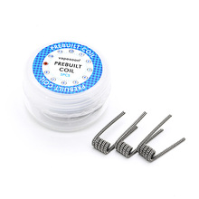 5pcs/box Electronic Cigarette Vape replacement Wire Staggered fused premade Coil 0.4ohm for DIY RDA RBA Atomizer Vaporizer