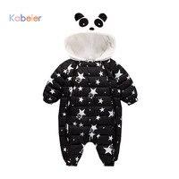 Pagliaccetti Del Bambino di inverno Tuta Vestiti Tuta 3-24Mouth Panda Neonato Ragazza Ragazzo Piuma D'oca Snowsuit Bambini infant Neve Usura onepiece