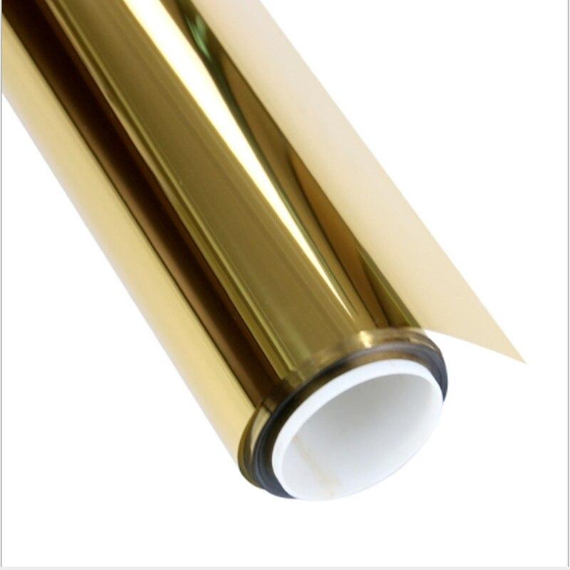 HOHOFILM 1.52x60m or et argent miroir unidirectionnel fenêtre teinte fenêtre Film solaire teinte réfléchissant verre autocollant 60''X196. 85FT rouleau