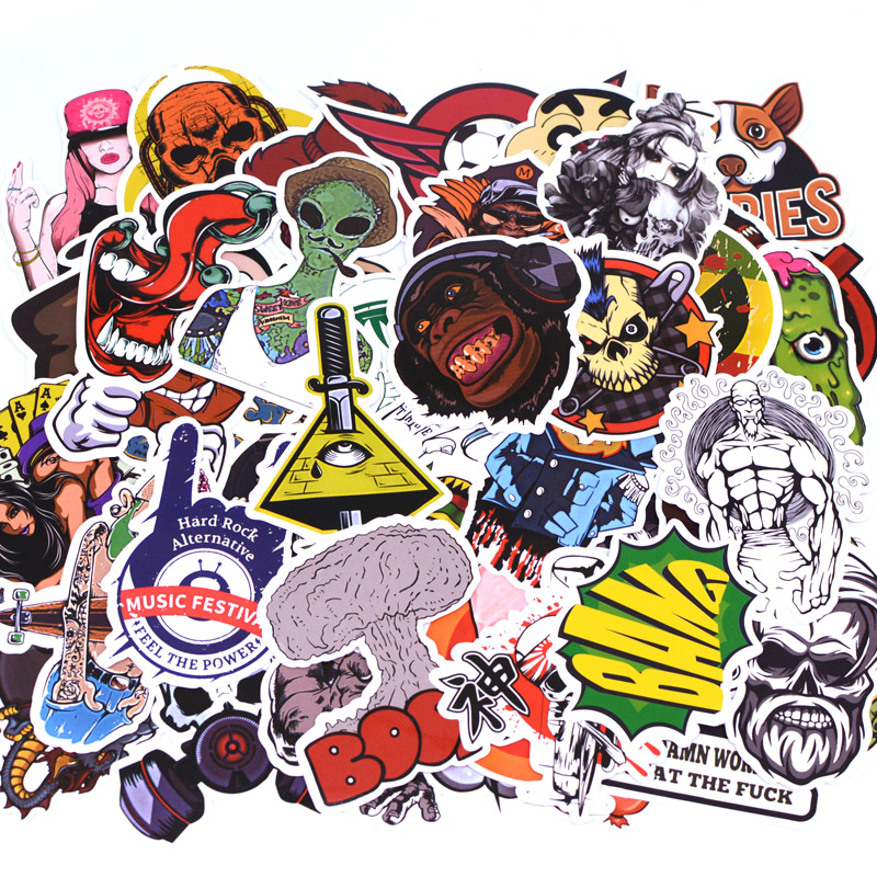 50pcs/pack A2 Anime Sticker Kids Toy Cool Stickers For DIY Children Stikers Luggage Laptop Skateboard Moto Car Kpop Stickers