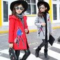 Детская Одежда Девушки 2016 Новых Корейских Детей Одежда И Зимние Куртки Платье Шерстяное Пальто Прилив Куртка Mothercare