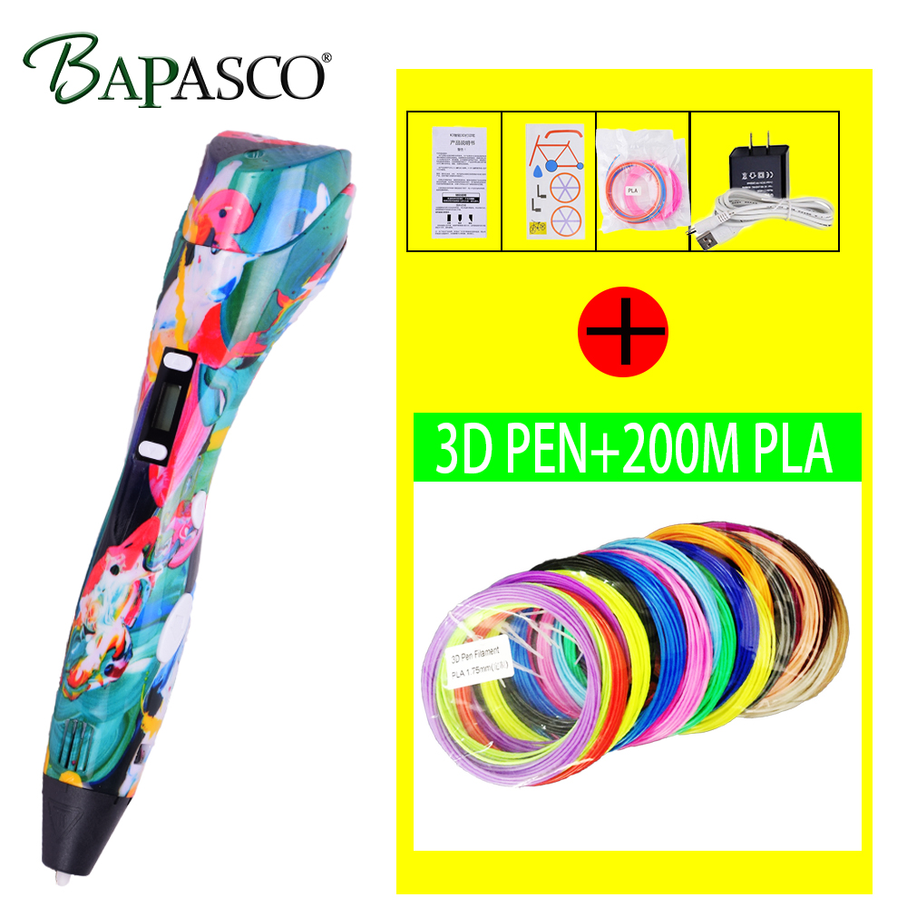Original 3D Pen Newest Version 3D Drawing Printer Printing Pencil Can Add 200 Meter PLA Filament for Kid Adult DIY Gift цены онлайн