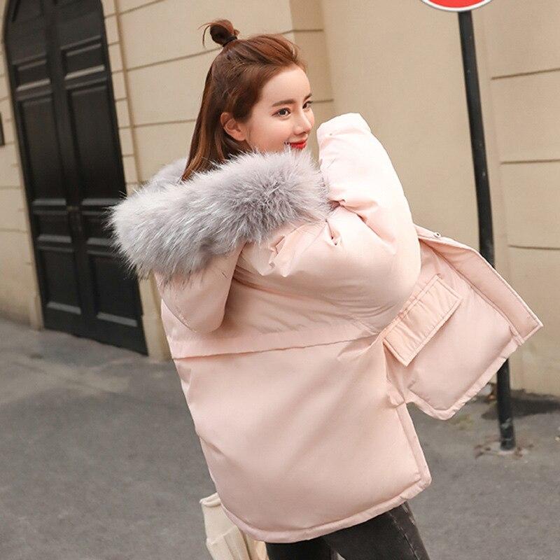 Épaissir Nouvelle Amérique Pink Lâche Europe Occasionnel Mode Vêtements Coton Capuchon Manteau Css145 Col De À Hiver Fourrure Chaud Femmes 2018 FSAqO5w