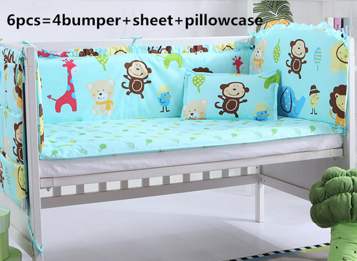 2017! 6/7PCS baby crib bedding set newborn cot bed sets neonate bumper pad for infant Duvet Cover,120*60/120*70cm2017! 6/7PCS baby crib bedding set newborn cot bed sets neonate bumper pad for infant Duvet Cover,120*60/120*70cm