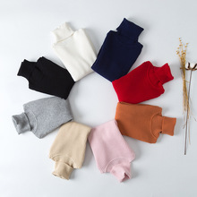 New Boys Clothes Kids Sweater Toddler Girls Bottoming Turtleneck Sweater Pullovers Kids Knitwear Sweaters Children Clothing Tops children clothes high quality baby girls boys pullovers turtleneck sweaters autumn winter warm cartoon clothes wear kids sweater