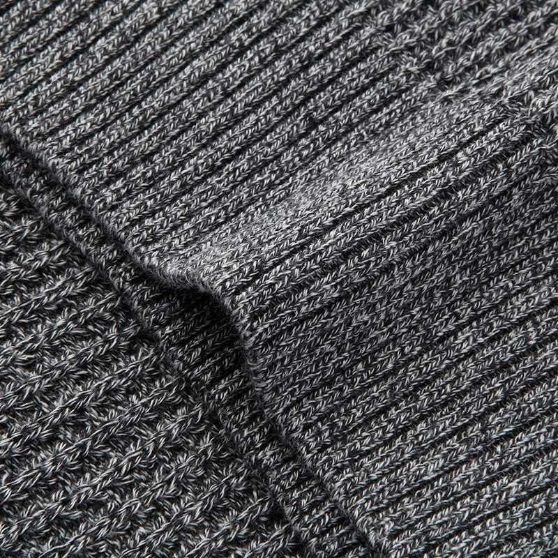 KUEGOU 2020 봄 100% 코튼 스웨터 남성 풀오버 캐주얼 점퍼 남성 브랜드 니트 한국 스타일 의류 플러스 사이즈 14012