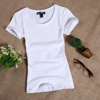 MRMT 2019 Women's T Shirt Women Short Sleeved Slim Solid Color Simple Pure Tee Womens T-Shirt For Female Women T shirts 2
