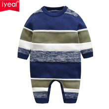 IYEAL Toddler Infant Newborn Baby Romper Long Sleeve Striped Knitted Sweaters for Children Boy Clothes 3-18 Months