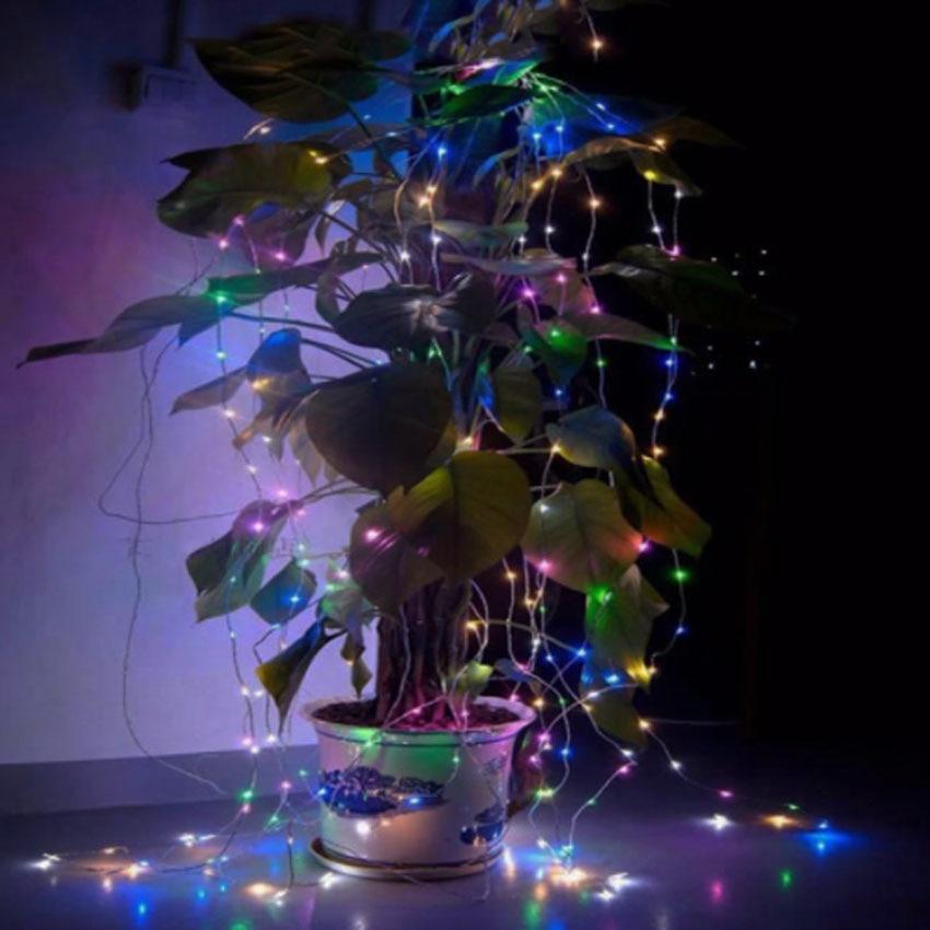 10M 100 LED Solar Power LED String Fairy Light Christmas Party Garden - Pencahayaan perayaan - Foto 5