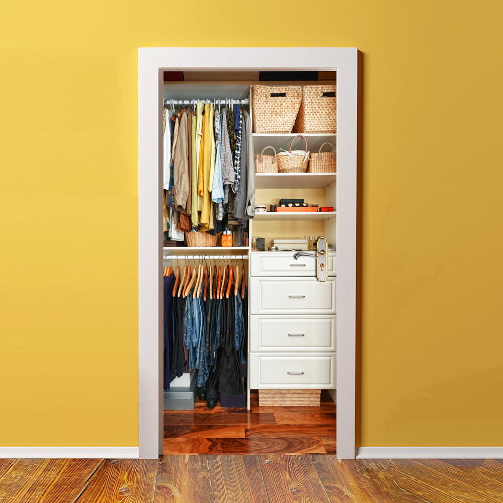 Home Creative DIY 3D Door Stickers 3D Wardrobe Pattern for Home Room ...