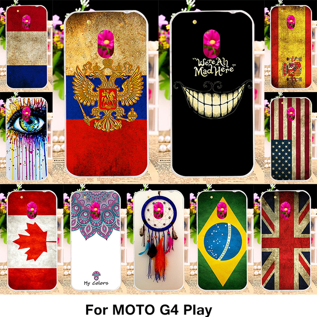 TAOYUNXI Silicone TPU Plastic Case For Motorola Moto G4 Play XT1600 XT1601 XT1603 XT1607 XT1609 5.0 Inch Case National Flag Bags