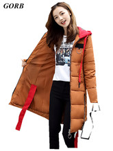 2017 Winter Duck Down Jacket Women Stitching Long Coat Parkas Thickening Female Warm Clothes Rabbit  Hooded Collar High Quality