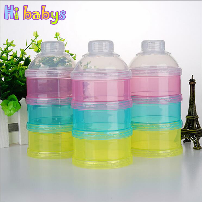 3 Layer Portable Infant Baby Milk Powder Formula Dispenser Storage Bo Bins Container Travel Box In Food From